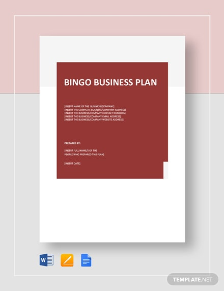 bingo business plan
