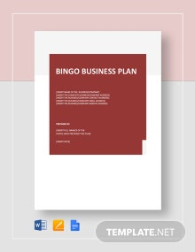 Bingo Business Plan Template