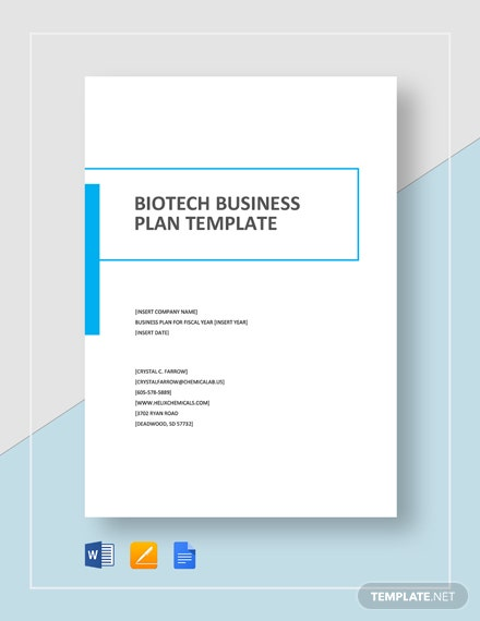 Biotech Business Plan Template