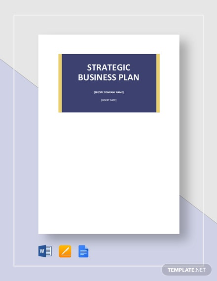 Blank Strategic Plan Template