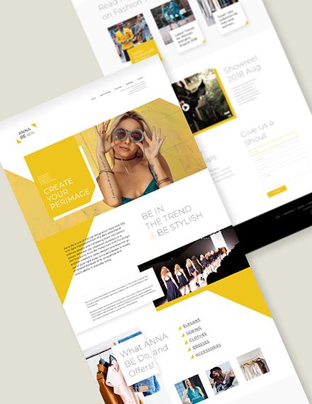 Fashion Designer Landing Page Download