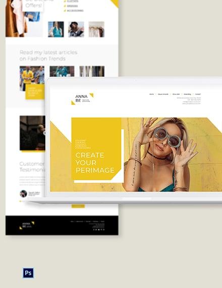 Fashion Designer PSD Landing Page Template