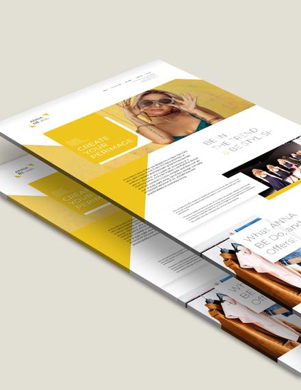 Sample Fashion Designer Landing Page