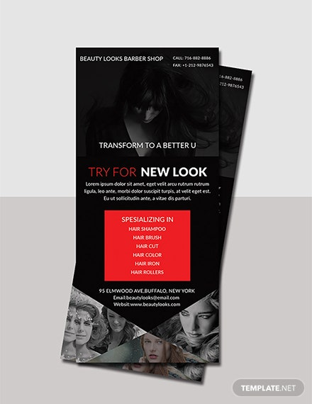 Free Barbershop Rack Card Template
