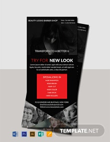 Free Barbershop Rack Card Template