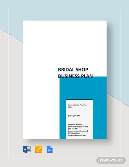 Bridal Shop Business Plan Template