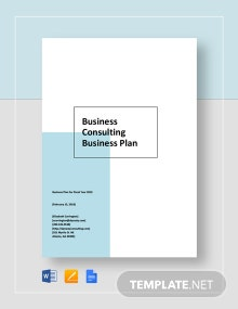 Business Consulting Business Plan Template