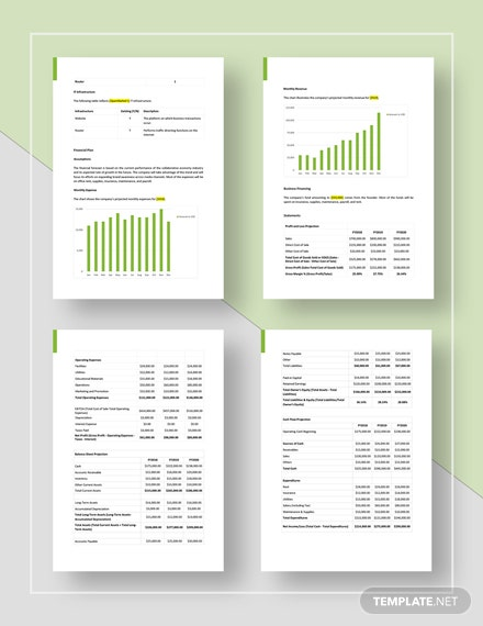 Basic Business Plan Template for Online StartUp