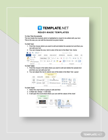 Business Plan Template for Online StartUp Instructions