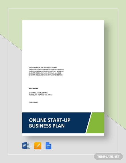 business plan template for online start up