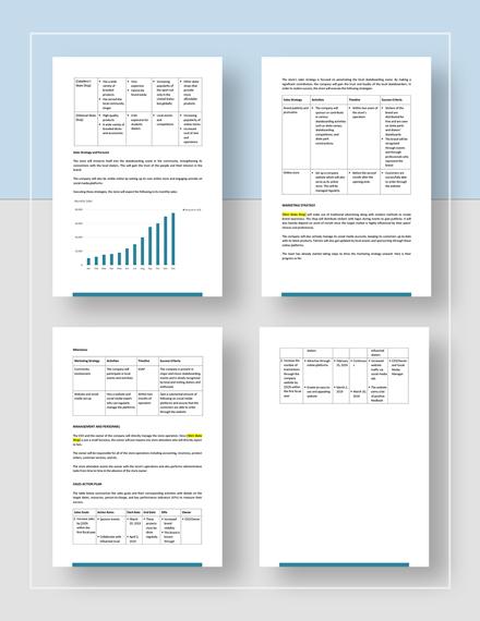 Basic Business Sales Plan
