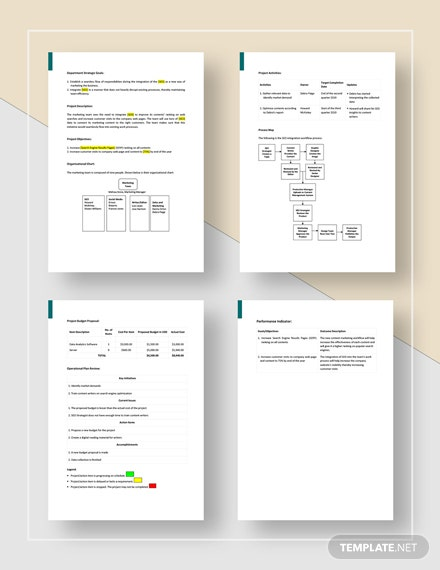 Business StartUp Project Plan Template
