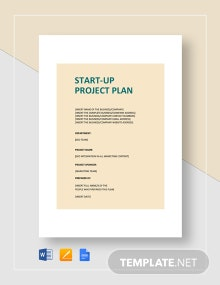 Business Start-Up Project Plan Template