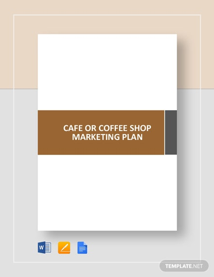 cafe or coffee shop marketing plan