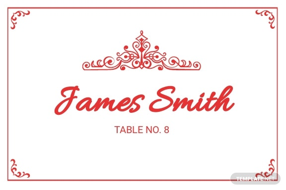 Vintage Wedding Place Card Template