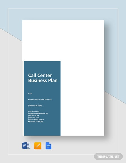 Call Center Business Plan Template