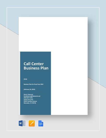 Call Center Business Plan Template