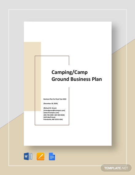 Camping or Camp Ground Business Plan Template