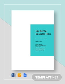 Car Rental Business Plan Template