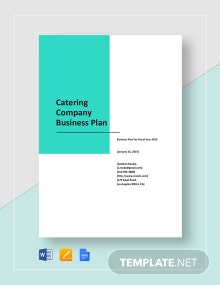 Catering Company Business Plan Template