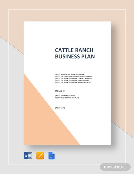 Cattle Ranch Business Plan Template
