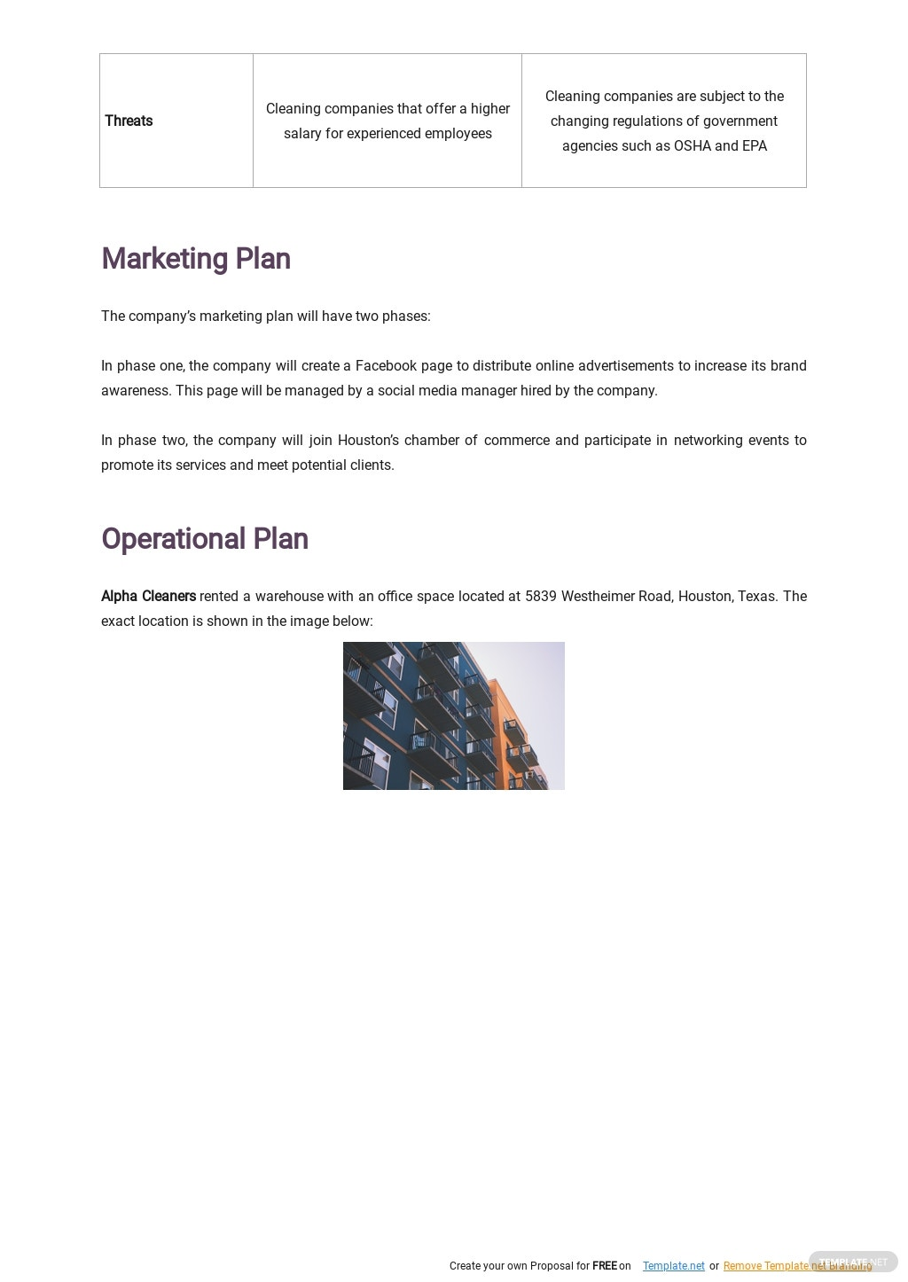 Cleaning Service Business Plan Template 3.jpe