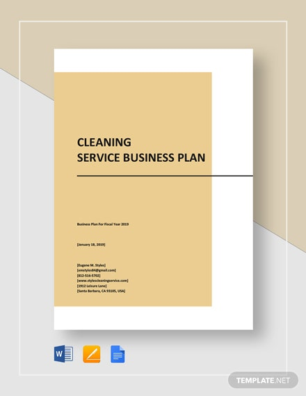 Cleaning Service Business Plan Template