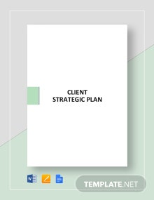 Client Strategic Plan Template