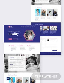 Creative Agency PSD Landing Page Template