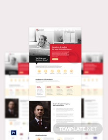 Advertising Consultant PSD Landing Page Template