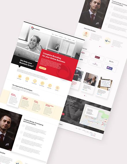 Sample Advertising Agency Website