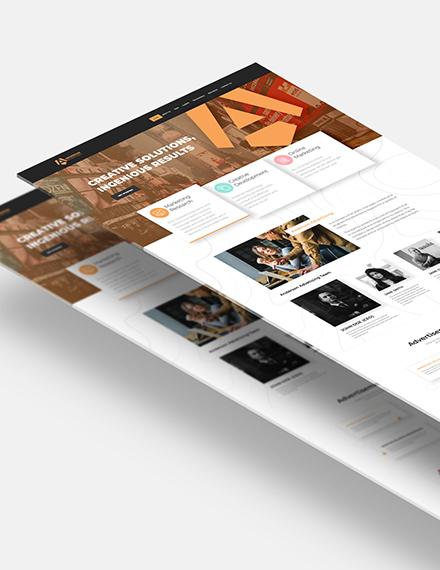 Advertising Agency Website Download