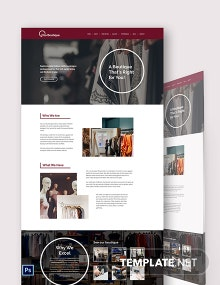 Boutique PSD Landing Page Template