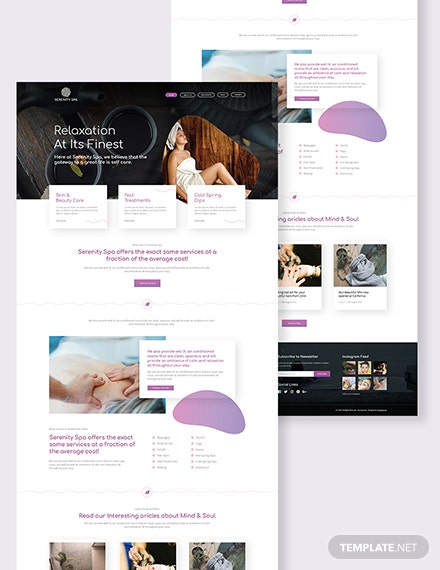 SPA Landing Page Download