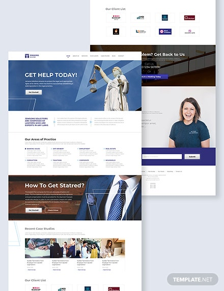 Law Firm Landing Page Download