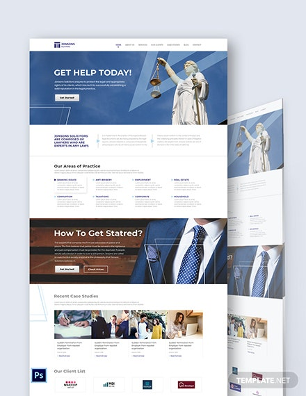 Law Firm PSD Landing Page Template