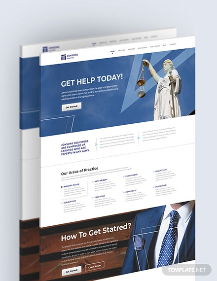 Sample Law Firm Landing Page