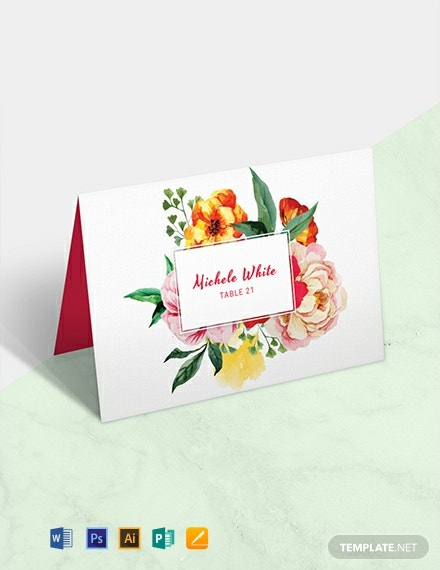 photo about Free Printable Wedding Place Cards called 12+ Absolutely free Position Card Templates - Term PSD InDesign