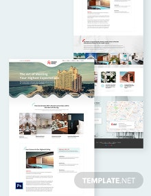 Hotel PSD Landing Page Template