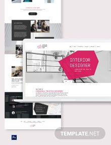 Interior Designer PSD Landing Page Template