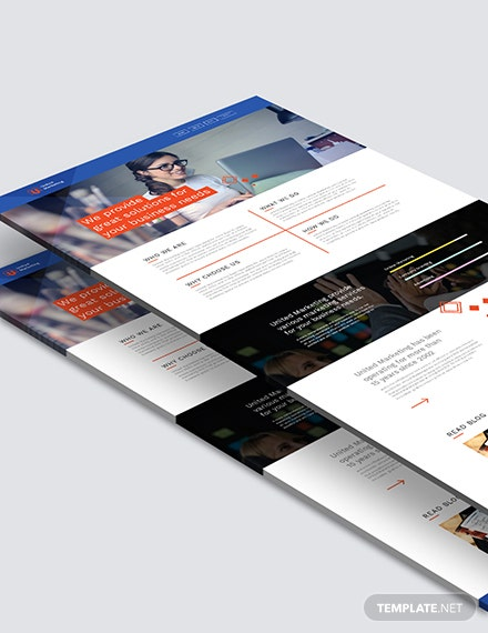 Sample Marketing Firm Landing Page