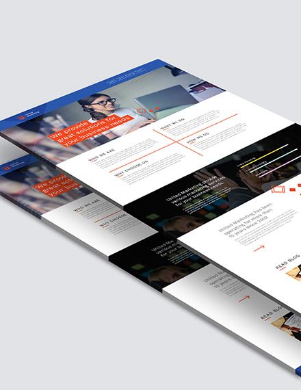 Sample Marketing Firm Landing Page
