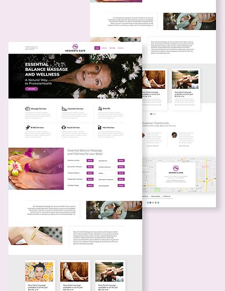 Massage Landing Page Download