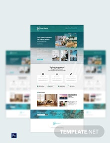 Royal Resort PSD Landing Page Template