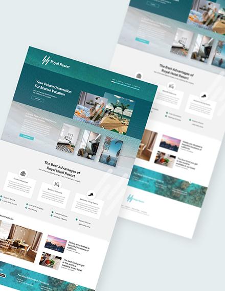 Sample Resort Landing Page