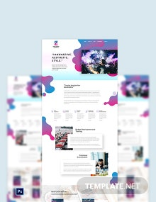 Event Planner PSD Landing Page Template