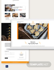 Bakery PSD Landing Page Template
