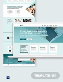 SEO Agency PSD Landing Page Template
