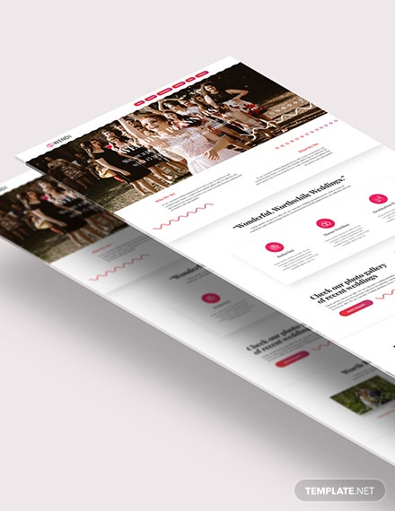 Wedding Planners Landing Page Download