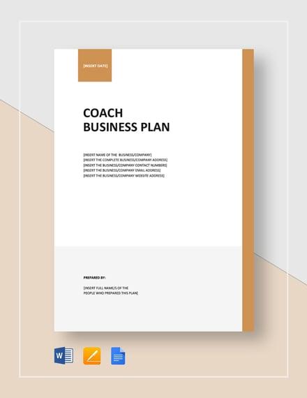 coach business plan